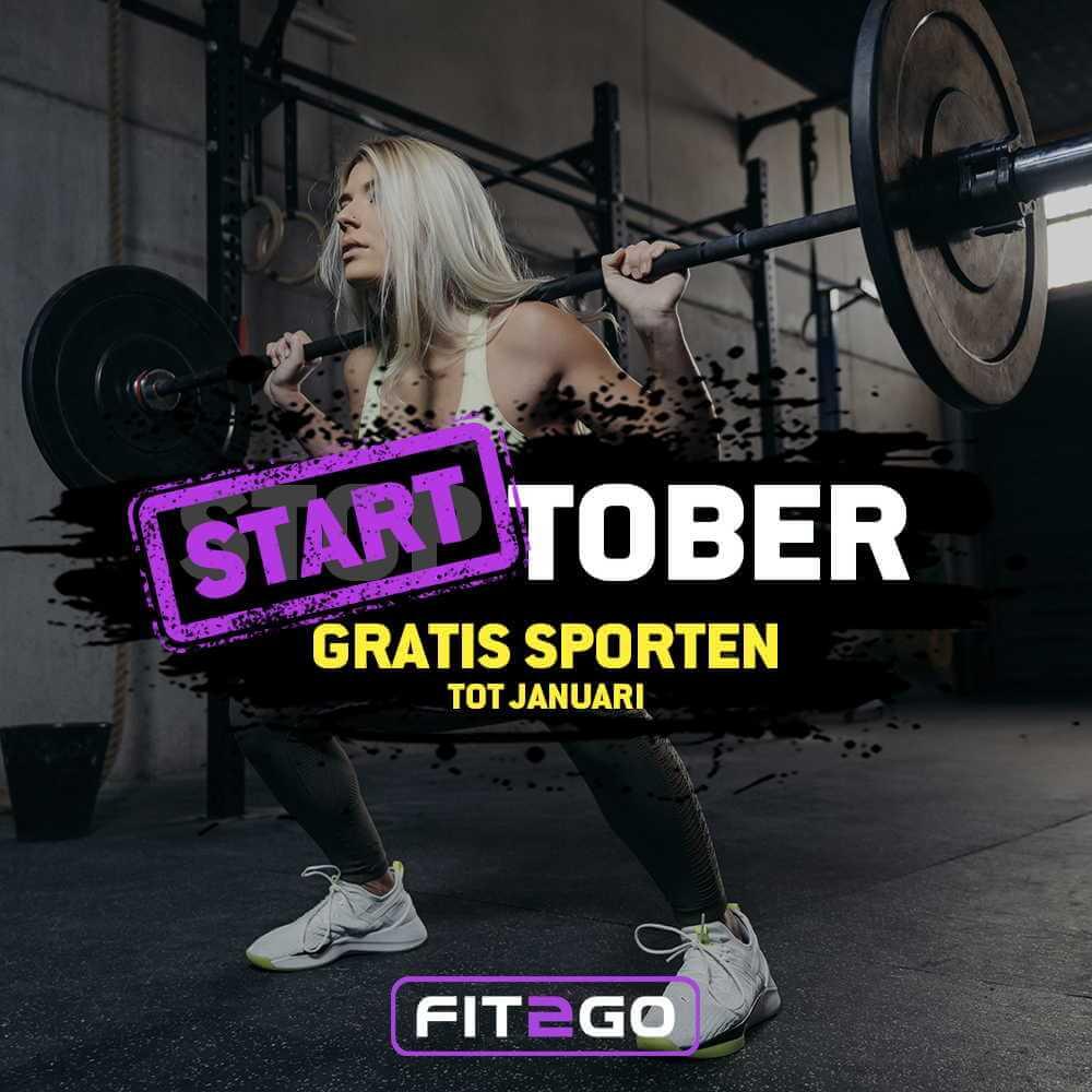 Actie sportschool FIT2GO